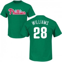 Men's Mitch Williams Philadelphia Phillies St. Patrick's Day Roster Name & Number T-Shirt - Green